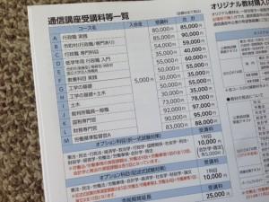 東京アカデミーの料金表
